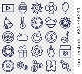 circle icons set. set of 25... | Shutterstock .eps vector #635746241
