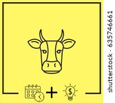 line icon  cow | Shutterstock .eps vector #635746661