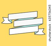 flat vector ribbons banners | Shutterstock .eps vector #635756345