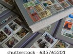 stamp collecting. philatelic.... | Shutterstock . vector #635765201