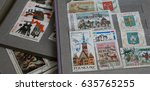 stamp collecting. philatelic.... | Shutterstock . vector #635765255