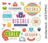 sale badges and tags design... | Shutterstock .eps vector #635769941
