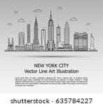 line art vector illustration of ... | Shutterstock .eps vector #635784227