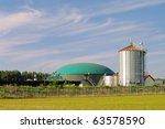 biogas plant | Shutterstock . vector #63578590