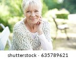 portrait of smiling senior... | Shutterstock . vector #635789621