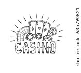 casino icon with cards  chips  ... | Shutterstock .eps vector #635790821