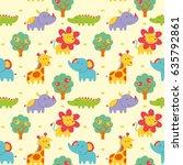 vector illustration seamless... | Shutterstock .eps vector #635792861