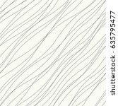 irregular wavy diagonal lines... | Shutterstock .eps vector #635795477