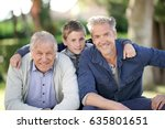 portrait of three men generation | Shutterstock . vector #635801651