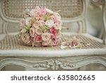 Pink Rose Bouquet Lies On...