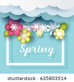 summer sale banner with flower  ... | Shutterstock .eps vector #635803514