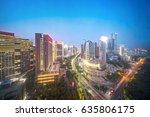 bird view at nanchang china.... | Shutterstock . vector #635806175