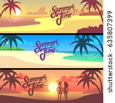summer time calligraphy  hand... | Shutterstock .eps vector #635807399