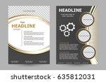 vector flyer template design.... | Shutterstock .eps vector #635812031