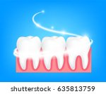 whitening of human tooth. deep... | Shutterstock .eps vector #635813759