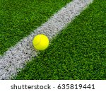 Photo Of A Tennis Ball On A...