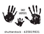 family handprints illustration. ... | Shutterstock . vector #635819831