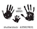family handprints illustration. ...   Shutterstock . vector #635819831