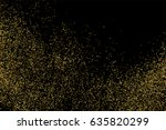 gold glitter texture isolated... | Shutterstock .eps vector #635820299