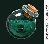 bottle of poison. game icon of... | Shutterstock .eps vector #635829245