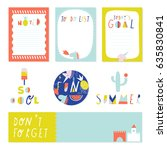 creative and cute journaling... | Shutterstock .eps vector #635830841