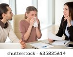 sick young attractive woman... | Shutterstock . vector #635835614