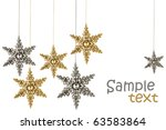 gold and silver stars for... | Shutterstock . vector #63583864