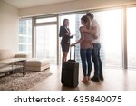female real estate agent...   Shutterstock . vector #635840075