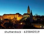 cesky kromlov in nights   czech ... | Shutterstock . vector #635840519