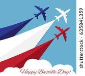 vector poster with airplanes... | Shutterstock .eps vector #635841359