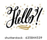 hello  beautiful greeting card...   Shutterstock .eps vector #635844539