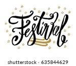 festival beautiful greeting...   Shutterstock .eps vector #635844629