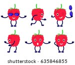 vector illustration set cartoon ... | Shutterstock .eps vector #635846855