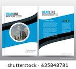 abstract vector modern flyers... | Shutterstock .eps vector #635848781