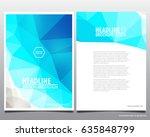 abstract vector modern flyers... | Shutterstock .eps vector #635848799
