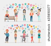 social media people set. vector ...   Shutterstock .eps vector #635850377