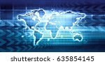 global communication and... | Shutterstock . vector #635854145