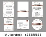wedding invitation card with...   Shutterstock .eps vector #635855885