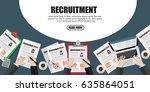 human resource or hr management ... | Shutterstock .eps vector #635864051