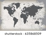vintage world map.grunge map of ... | Shutterstock .eps vector #635868509