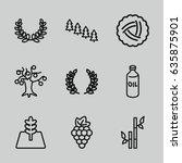branch icons set. set of 9...
