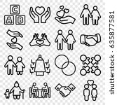 together icons set. set of 16... | Shutterstock .eps vector #635877581