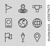 map icons set. set of 9 map... | Shutterstock .eps vector #635879675