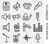 voice icons set. set of 16... | Shutterstock .eps vector #635886731