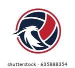modern volleyball logo  ...   Shutterstock .eps vector #635888354