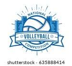 modern volleyball logo   urban...   Shutterstock .eps vector #635888414