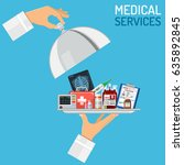 medical services concept with... | Shutterstock .eps vector #635892845