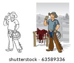 rancher vector illustration of... | Shutterstock .eps vector #63589336