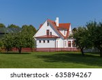 White House  Cottage  With Red...