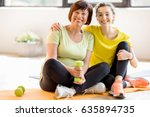 portrait of a mother and... | Shutterstock . vector #635894735
